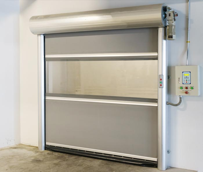 High Speed Door With Vision Panel