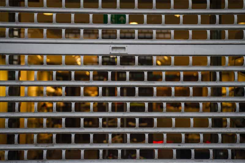 London Brick Bond Shop Roller Shutter