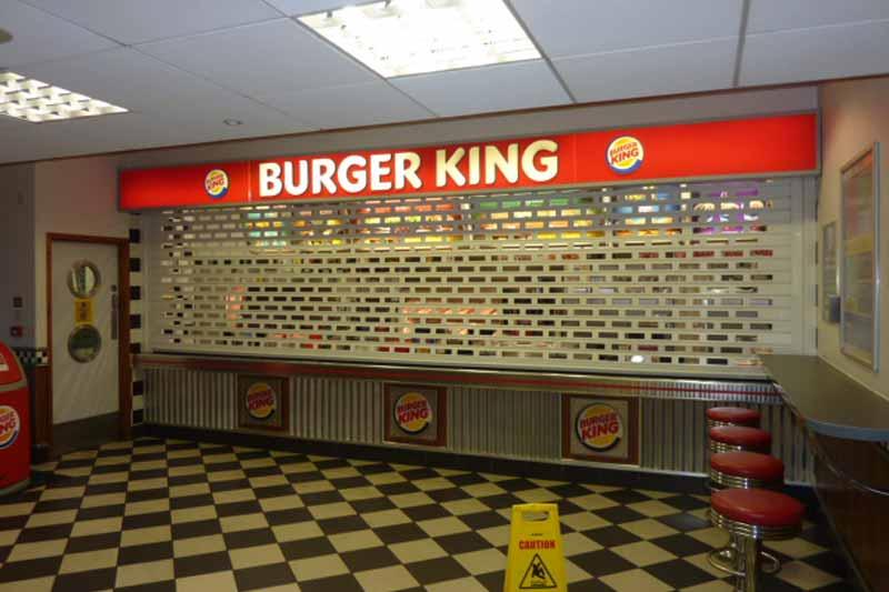 London Burger King Shop Tube and Link Roller Shuter