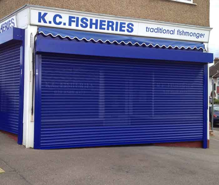 Powder Coated London Fish Shop Roller Door