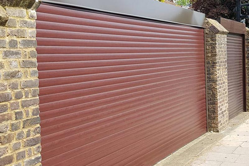 Rosewood Powder Coated Domestic Roller Shutters