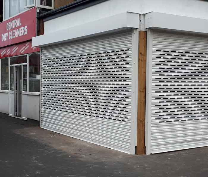Powder Coated Brick Bond Shop Roller Shutter