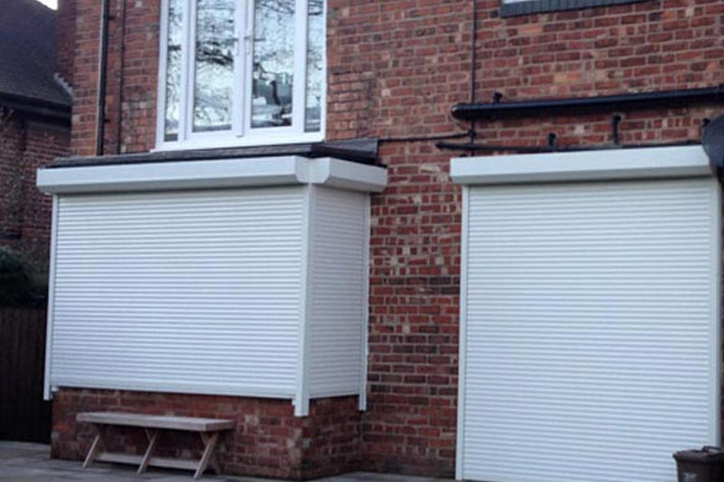 White Powder coated London Domestic Roller Shutter