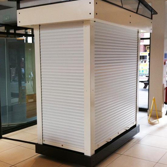 Kiosk Roller Shutter, White